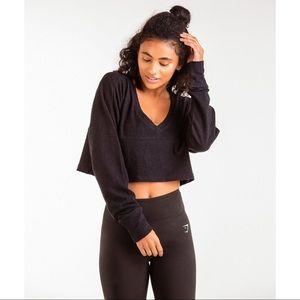Gymshark Towel Sweater Black